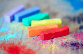 Coloured chalks